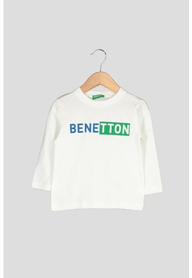 United Colors of Benetton Bluza din bumbac organic, cu imprimeu logo Baieti