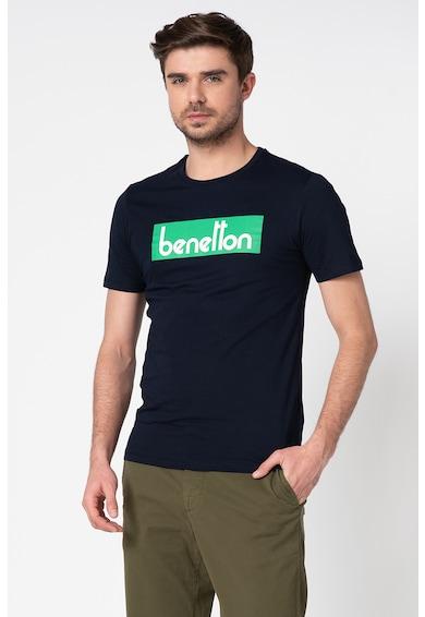 United Colors of Benetton Tricou cu decolteu la baza gatului si imprimeu logo Barbati