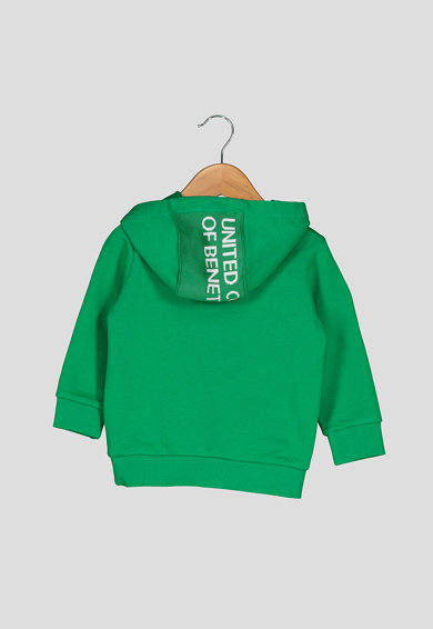 United Colors of Benetton Hanorac cu garnitura logo pe gluga Baieti