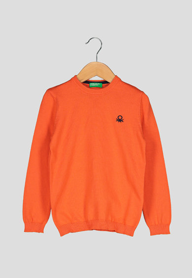 United Colors of Benetton Pulover cu broderie logo Baieti