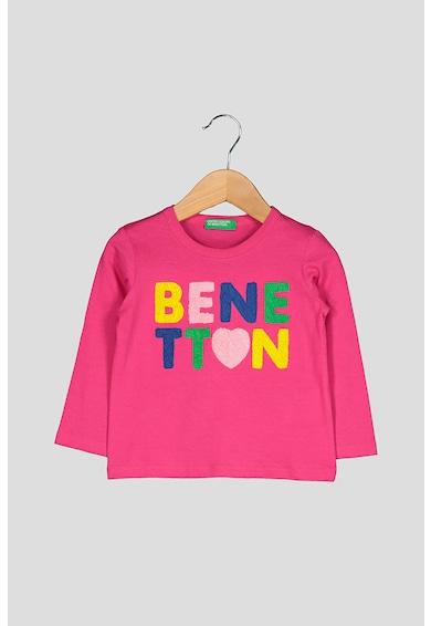 United Colors of Benetton Bluza cu aplicatie logo Fete