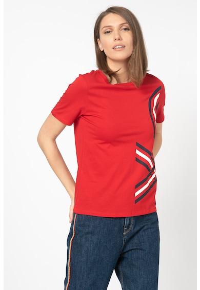 United Colors of Benetton Tricou din amestec de modal cu imprimeu logo Femei
