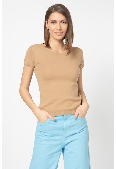 United Colors of Benetton Tricou tricotat cu detalii striate Femei