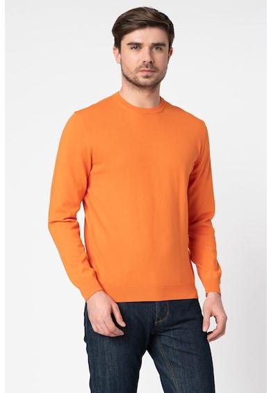 United Colors of Benetton Pulover tricotat fin, cu decolteu la baza gatului Barbati