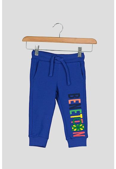 United Colors of Benetton Pantaloni sport cu imprimeu logo contrastant Baieti