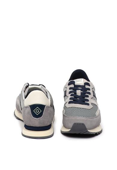 Gant Pantofi sport de piele intoarsa si plasa Grancliff Barbati
