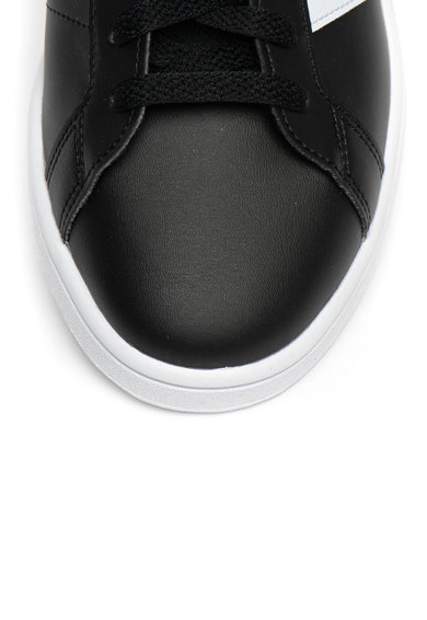 Adidas PERFORMANCE Pantofi sport de piele ecologica, cu imprimeu logo Grand Court Base Barbati