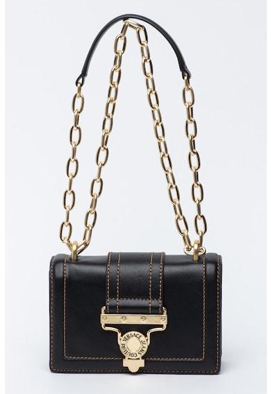 Versace Jeans Couture Geanta crossbody de piele cu bareta din lant metalic Femei