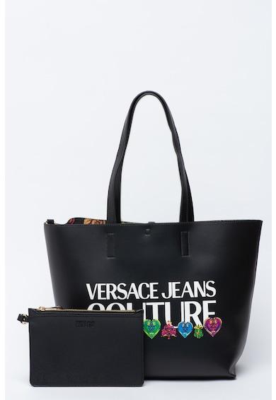 Versace Jeans Couture Geanta shopper reversibila de piele ecologica Femei
