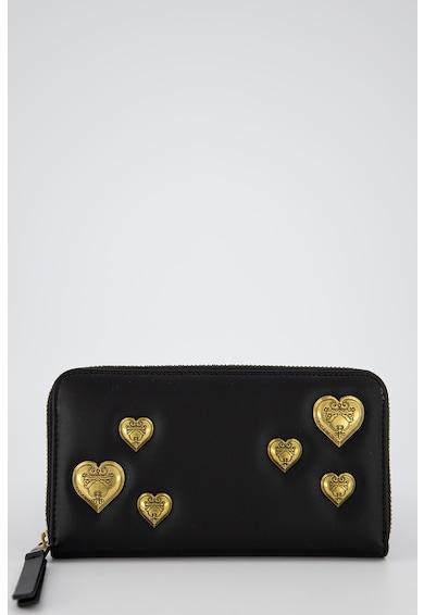 Versace Jeans Couture Portofel de piele ecologica, cu aplicatii in forma de inima Femei