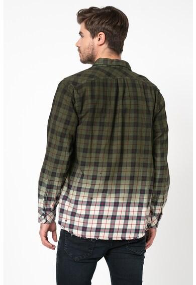 Diesel Карирана риза Miller с незавършен подгъв Мъже