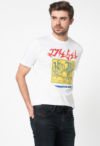 Diesel Tricou cu imprimeu logo si grafic T-Just Barbati