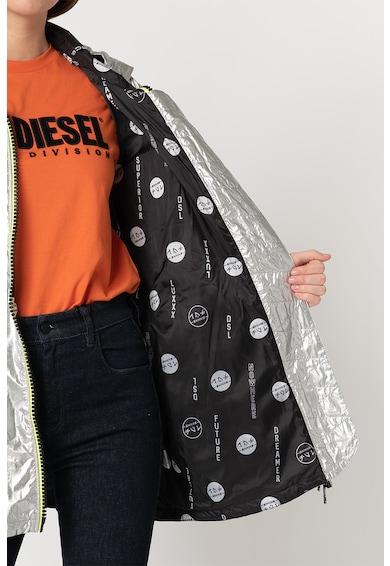 Diesel Jacheta cu gluga si aspect metalizat Matis Femei