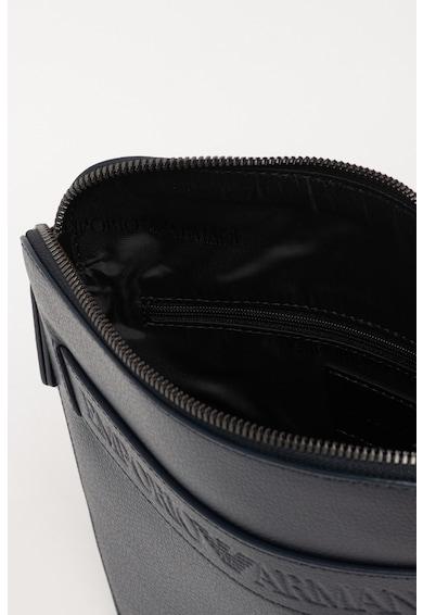 Emporio Armani Кожена чанта с релефно лого Мъже
