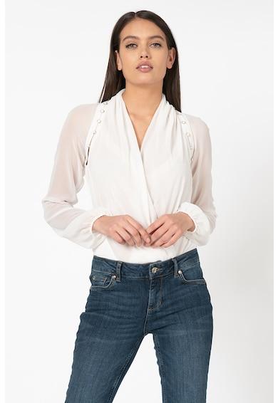 GUESS BY MARCIANO Блуза от шифон с попупрозрачни ръкави Жени
