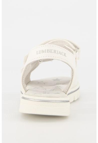 Lumberjack Sandale de piele ecologica, cu funda stralucitoare Lara Fete
