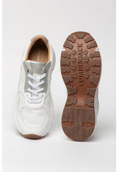 Lumberjack Pantofi sport de piele cu insertii din material textil Drew Femei