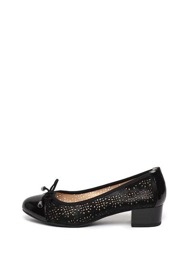 Caprice Pantofi de piele intoarsa cu model perforat Femei