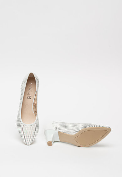 Caprice Pantofi din piele cu aspect perforat Femei