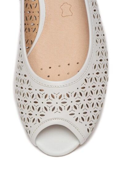 Caprice Pantofi de piele cu perforatii si varf decupat Femei