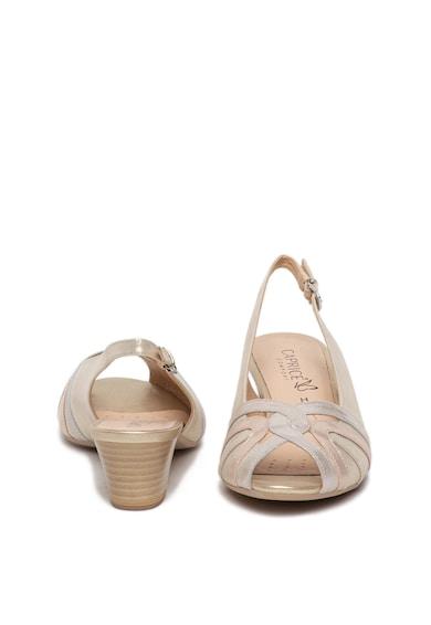 Caprice Sandale slingback de piele cu aspect stralucitor Femei