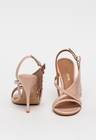 Emporio Armani Sandale din piele cu toc inalt Femei