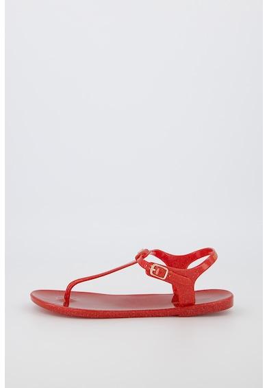 Emporio Armani Sandale cauciucate cu bareta separatoare si aspect stralucitor Femei