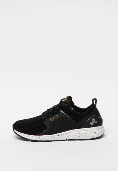 EA7 Pantofi sport slip-on cu insertii de piele ecologica Barbati
