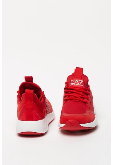 EA7 Pantofi sport de piele ecologica, cu detaliu logo Femei