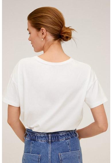 Mango Памучна тениска Mickey Жени