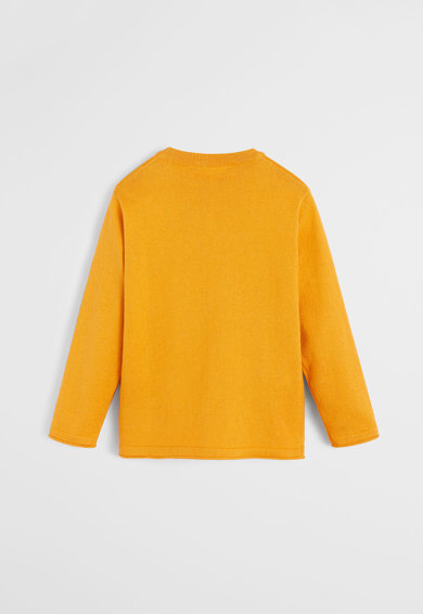 Mango Pulover din bumbac organic tricotat fin Pablo Baieti
