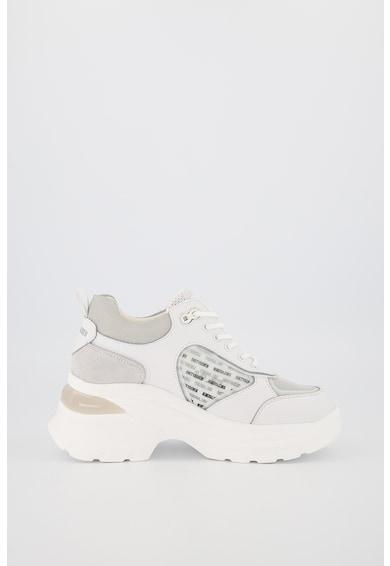 sixtyseven Pantofi sport de piele si piele intoarsa cu insertii de material textil Femei