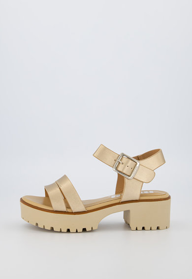 MTNG Sandale de piele ecologica cu aspect metalizat Femei