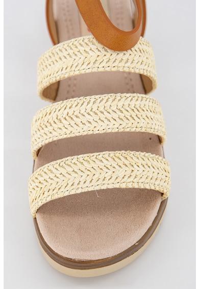 MTNG Sandale de piele ecologica cu insertii de iuta Femei