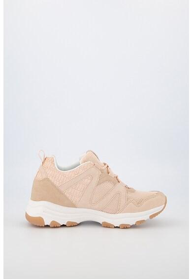 MTNG Pantofi sport de piele intoarsa ecologica cu garnituri de plasa Femei