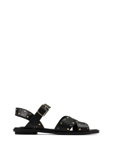 Clarks Sandale de piele cu aplicatii din nituri Willow Gild Femei