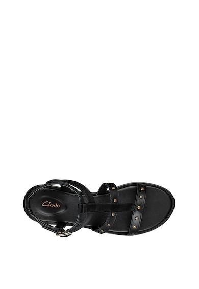 Clarks Sandale de piele cu aplicatii din nituri Willow Glad Femei