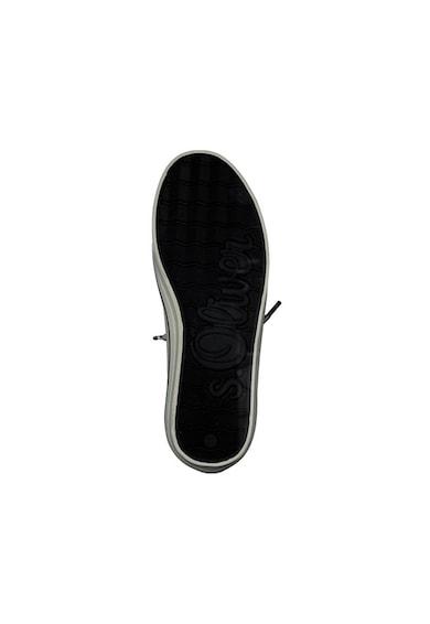 s.Oliver Pantofi sport de piele ecologica, cu cusaturi contrastante Femei