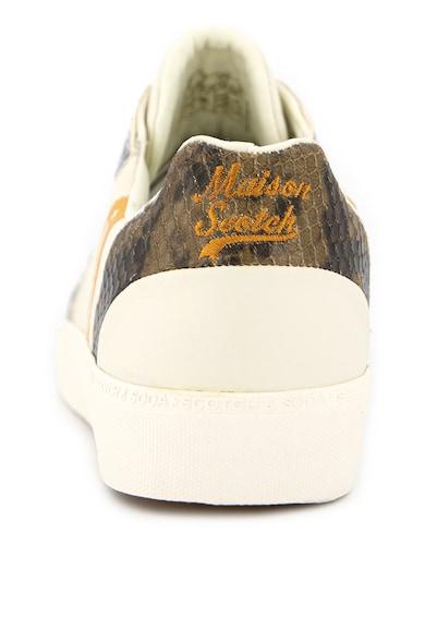 Scotch & Soda Pantofi sport din piele cu garnituri cu aspect de piele de sarpe Laurite Femei