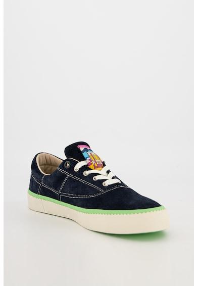 Scotch & Soda Pantofi sport de piele intoarsa cu garnitura contrastanta Menton Barbati