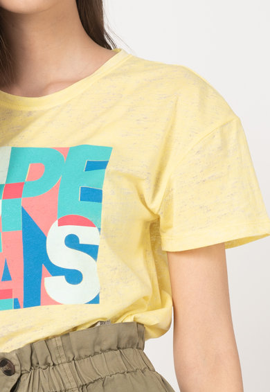 Pepe Jeans London Tricou cu logo 4 Femei