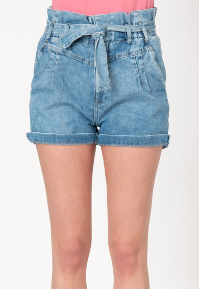 Pepe Jeans London Pantaloni scurti din denim cu talie inalta Phoebe Femei