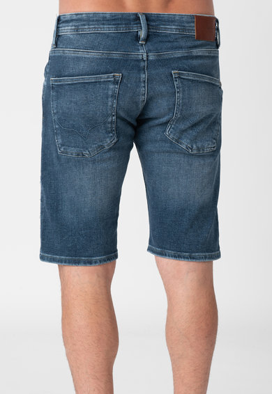 Pepe Jeans London Pantaloni scurti din denim cu aspect decolorat Barbati