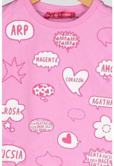 Agatha Ruiz de la Prada Tricou din bumbac, cu imprimeu Comic Bubbles Fete