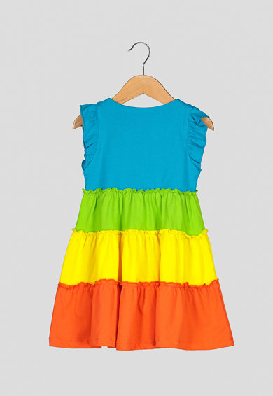 Agatha Ruiz de la Prada Rochie evazata cu model colorblock Heartful Colors Fete