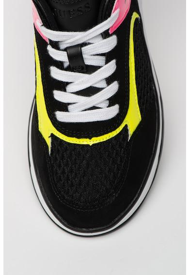 Guess Pantofi sport din plasa cu insertii din piele intoarsa ecologica Femei