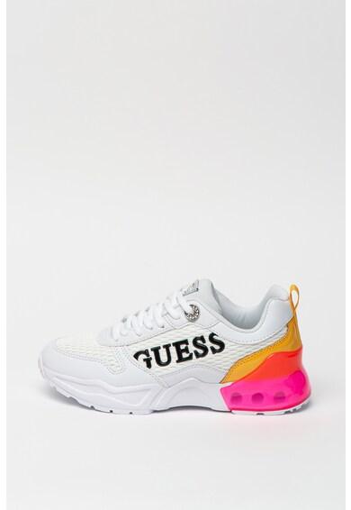 Guess Pantofi sport din piele ecologica si plasa, cu model colorblock Femei