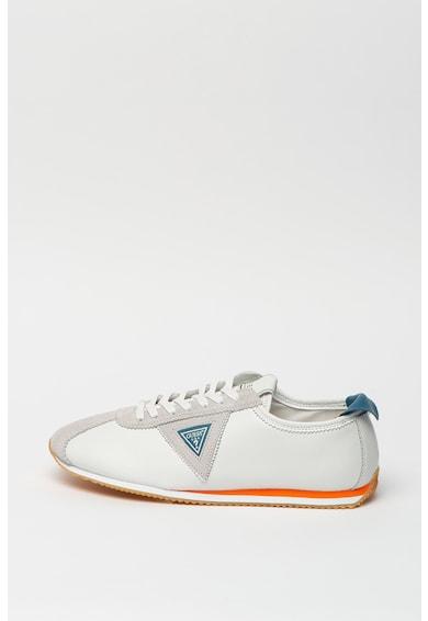 Guess Pantofi sport din piele si piele ecologica cu detaliu logo Barbati