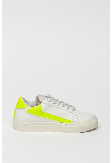 Guess Pantofi sport de piele ecologica, cu partea superioara din panza Baieti