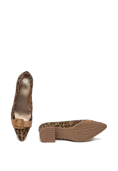 Marco Tozzi Pantofi cu animal print si catarama decorativa Femei